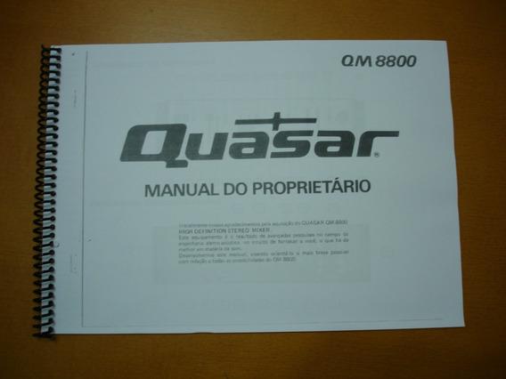 Quasar Qm-8800 Manual De Instruções