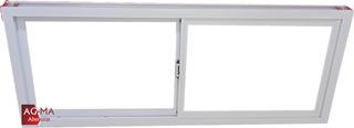 Ventana Aluminio Vidrio 4mm Blanco Fabrica 150x60