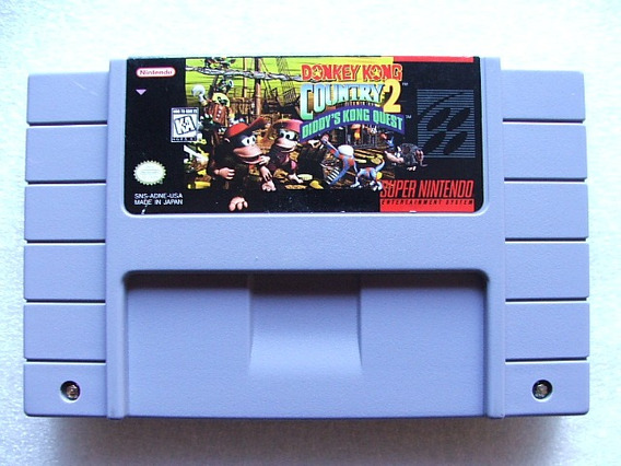 Donkey Kong Country 2 Original Americano! Bateria Perfeita!
