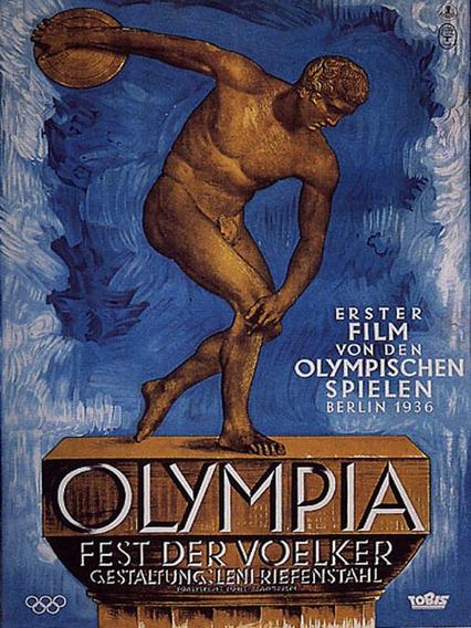 Cartaz Filme Dos Jogos Olimpicos De Berlim 1936 Poster Repro