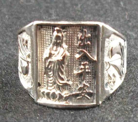Anel Da Guanyin Em Prata Tibetana - Aro 23
