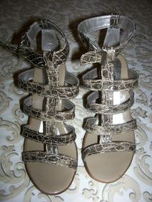 Sandália No 36 (nova - Modelo Gladiadora Anabela)