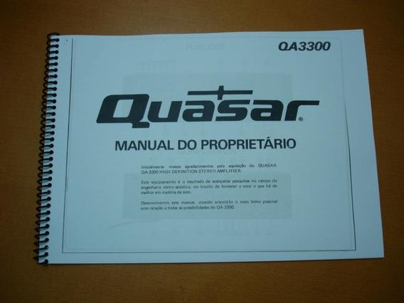 Quasar Qa-3300 Manual De Instruções