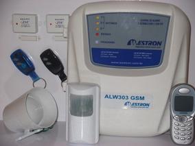 Sistema De Alarme Residencial Gsm Com 16 Sensores Sem Fios