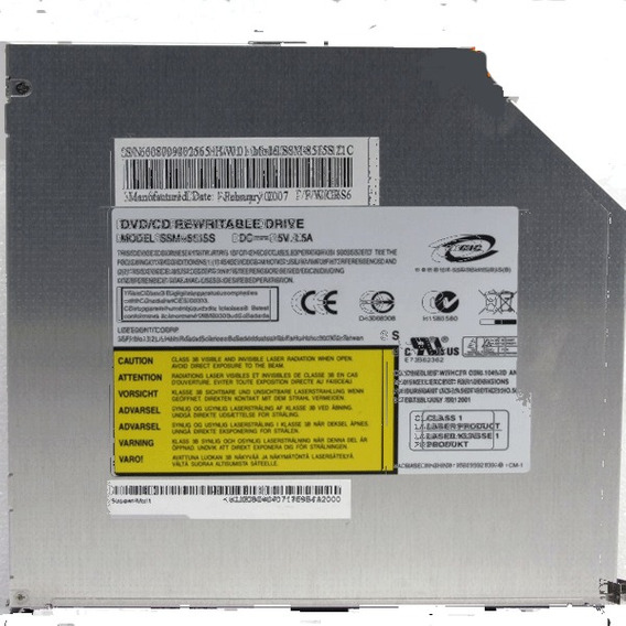 Gravador Leitor Cd / Dvd Acer Aspire 3690 Lite-on Ssm-8515s