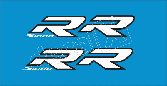 Emblema Adesivo Bmw S1000rr Azul Par Bws1000rr2