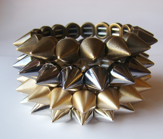 Bracelete, Pulseira Spike Regulavel - Unidade - Varias Cores