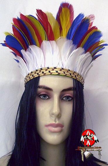 Cocar Repro Indigena Brasileiro Xamanismo Penacho Umbanda