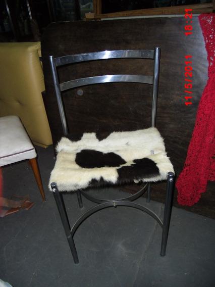 Linda Cadeira Design Assento Couro De Vaca Charmosésima!!