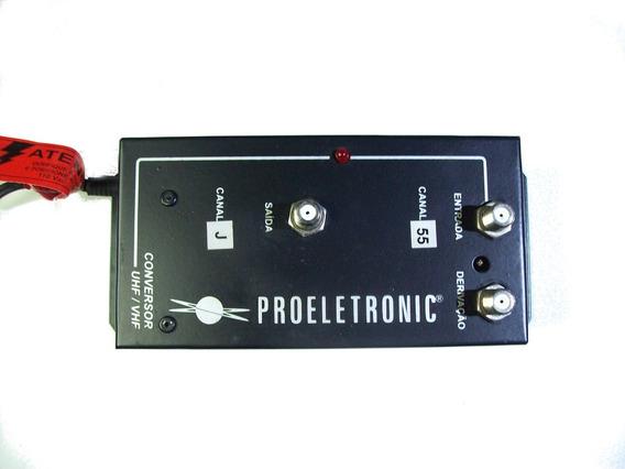 Conversor Profissional Proeletronic Pqco1000 Uhf-canal Letra