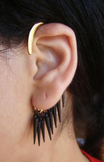 Ear Cuff Spike, Brinco De Encaixe,pressão,bracelete D Orelha