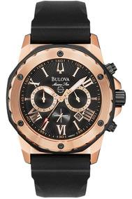 Relógio Luxo Bulova Marinestar 98b104 Orig Chronograph Anal