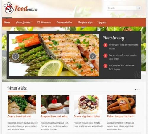 Site Para Restaurante E Lanches, Em Joomla 2.5 - Modelo J486