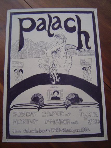 Cartaz / Pôster Feito A Mão /peça Sobre Jan Palach Importado