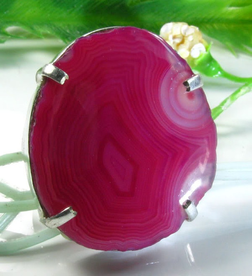 Agata Chapa -anel Prata Indiana 925