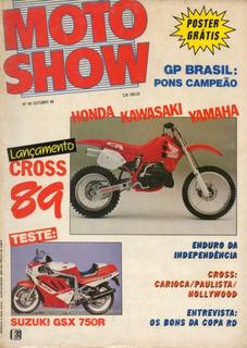 Motoshow N°68 Suzuki Gsx 750r Lançamentos Cross 89 Honda