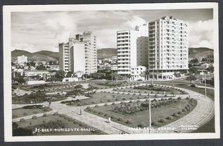 Postal Antigo, Belo Horizonte, Praça Raul Soares.