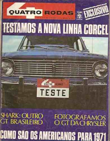Quatro Rodas Nº 122: Teste Do Corcel - Pace - Dodge Gt