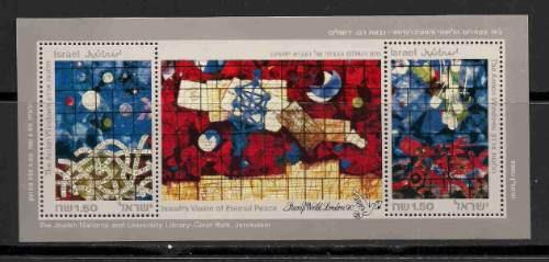 Selos Israel 1990 Vitrais Paz Amor Pomba Igreja Love Sionism