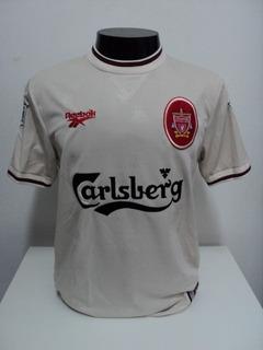 Camisa Liverpool Away 96-97 Mc Manaman 7 Patch Premier Imp