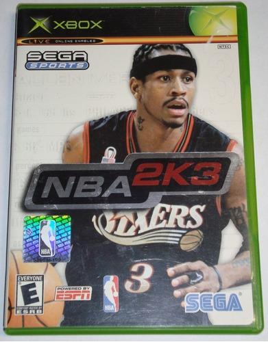Juego Original Nba 2k3 Disco Usado Xbox Ntsc Consola Oferta