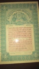 Apólice Da Dívida Pública - Um Conto De Réis - 1922