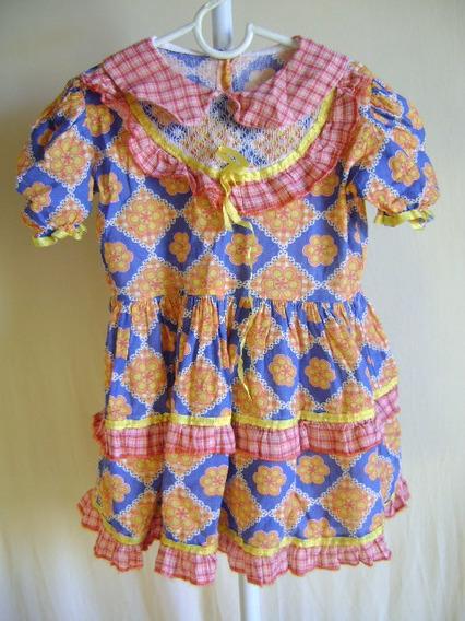 Vestido De Quadrilha Infantil Tam 10