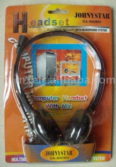 Fones De Ouvido Com Microfone P/omputador Js-900mv Johnyster