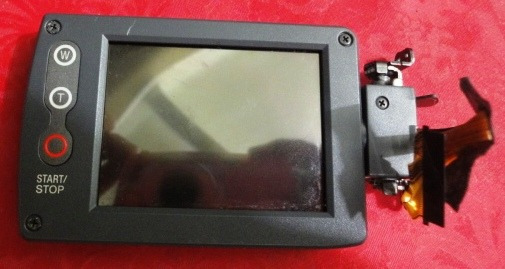 Lcd Completo Sony Handycam Dcr-dvd105 Com Flat Testado.