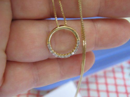 Ivi1388 = Corrente C/ Ping. , Diamantes , Ouro 18k-750!!!