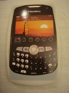 Capa De Silicone Blackberry 8520 Branca