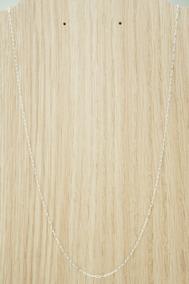 Corrente Cadeado Masculina 60cm (d) Prata 925