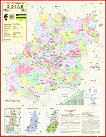 Mapa Geo Político Histórico E Rodoviário Do Estado De Goiás