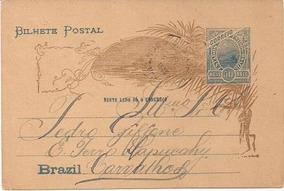 Bilhete Postal Do Brasil - 1905 E. Ferro Sapucahy