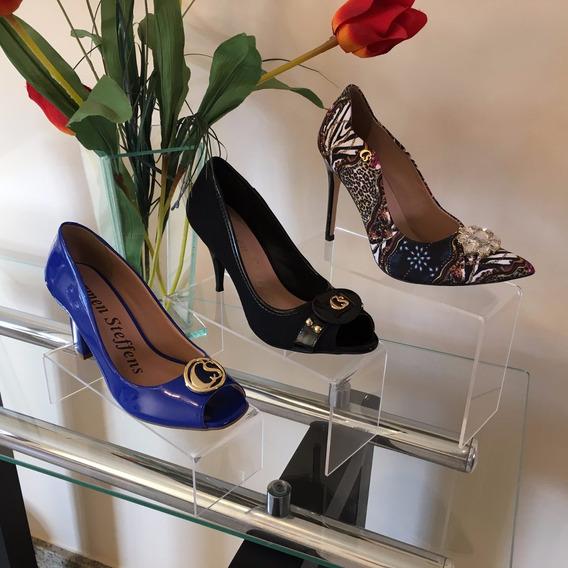 Suporte De Acrílico Para Calçados Sapatos Kit 6 Peças