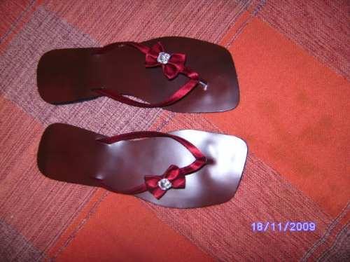 Sd111 - Rasteirinha Cetim Vermelha Laçinho