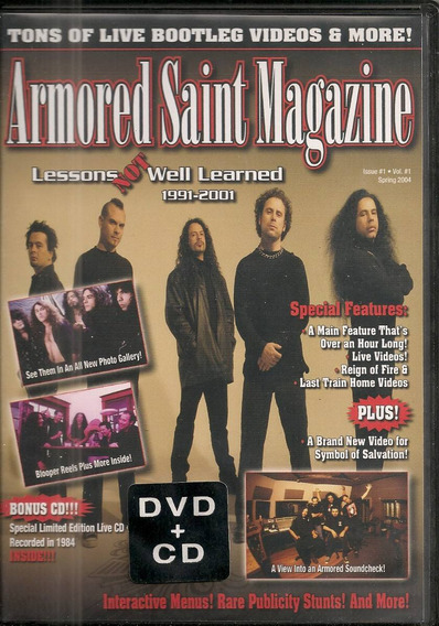 Armored Saint - Magazine Dvd + Cd Anthrax