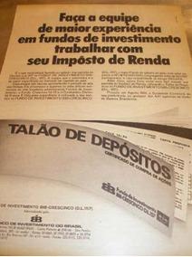 ( L - 290 ) Propaganda Antiga Banco De Investimentos Brasil