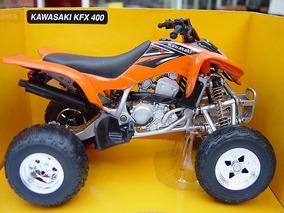 Kawasaki Kfx 400 Quad Laranja 1:12 New Ray