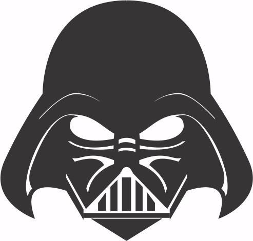 Adesivo Star Wars Darth Vader 10cm - Frete Fixo 02 Unidades