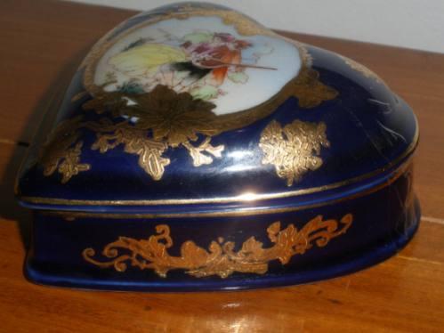 Caixinha / Porta Joia - Antiga - Porcelana Limoges