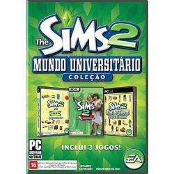 Coleção The Sims 2 Mundo Universitário Pc Original Portugues