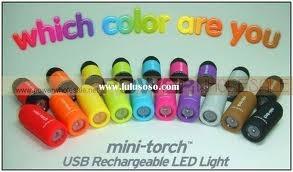Lanterna Chaveiro Mini Torch Recarregável Usb