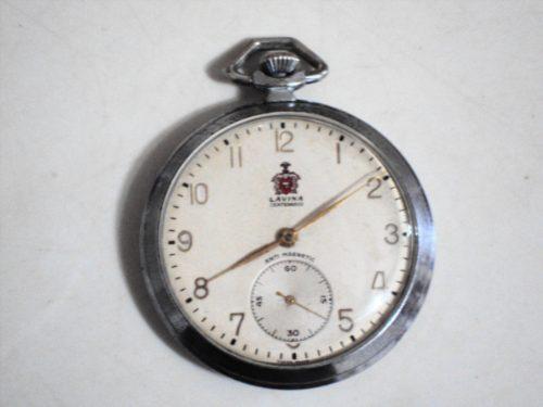 Relógio De Bolso Antigo Suíço Lavina Centenário