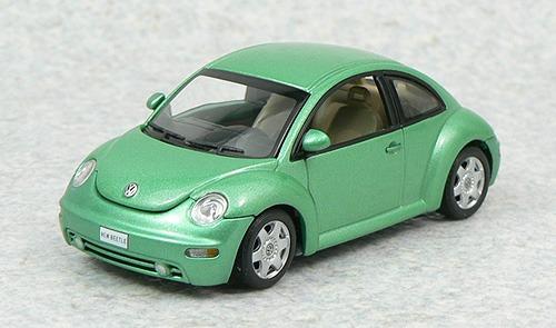 1:43 Autoart 59732 Vw New Beetle - Green Fusca