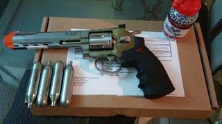 Revolver 357 Magnum Airsoft Co2 Powered .177 Fullmetal Nikel