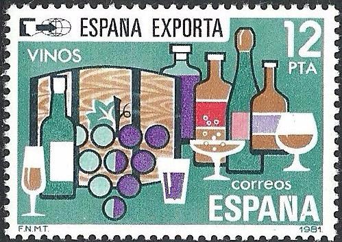 1981 España Exporta Vinos Uvas Sello Mnh
