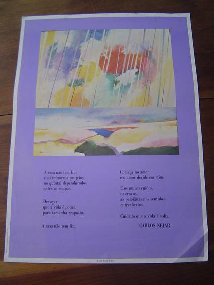 Cartaz Pôster Antigo Carlos Nestar E Ademir Martins