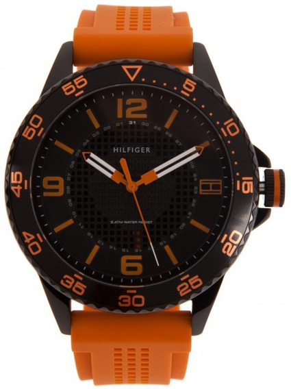 Relógio Tommy Hilfiger Th1790837 Orig Sport Anal Black Orang