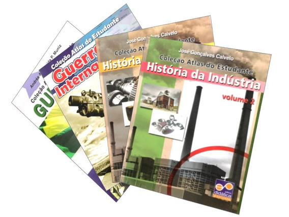 Atlas Do Estudante - 4 Volumes História Guerras / Industria